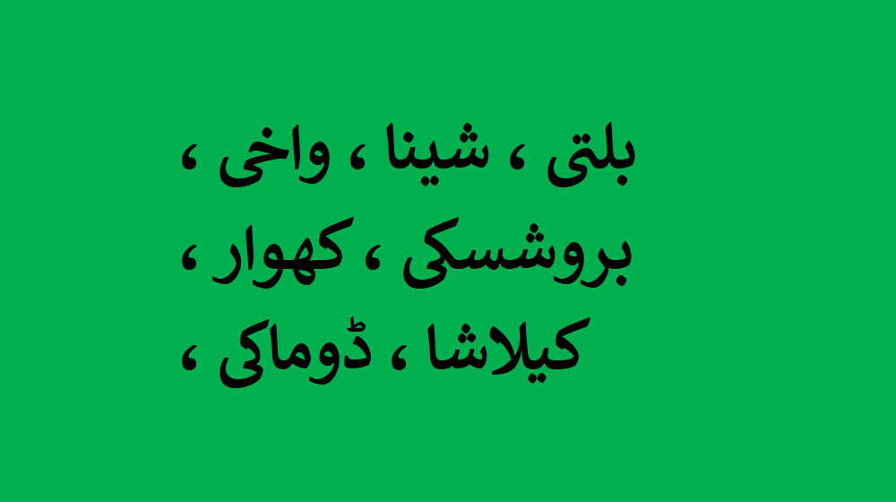 How many languages are spoken in Gilgit Baltistan